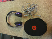 Beats By Dr. Dre Solo Hd Headband Headphones W/cable And Case Purple Working