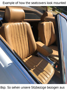 Seat Covers Fits For Mercedes Benz Sl R107 + Installation Recovered