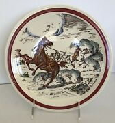 Vernon Kilns Western Bits Of The Old West Collector Plate 8-1/2 Horse Theives