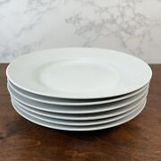 """Pottery Barn Great White Rimmed Plate Set Of 6 - 10.5"""" Luncheon And 6 - 12"""" Dinner"""
