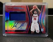 Isaiah Stewart 2020-21 Certified Freshman Fabric Red Patch Auto Rc 75/99