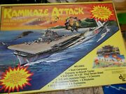 Rare Vintage Kamikaze Attack Action Playset Complete Box Case Aircraft Carrier