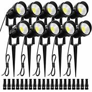 Zuckeo Low Voltage Landscape Lights With Wire Connectors10w 12v 24v 1000lm Da...