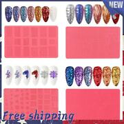 Silicone Nail Carving Mold 3d Relief Sculpture Stamping Stencils Nail Art Tools