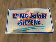 Vtg Huge 30andrdquo Long 18andrdquo Wide Silvers Seafood Restaurant Advertising Sign Highway