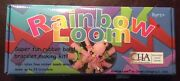 Rainbow Loom Kit + Lot Of Rubber Bands In Plastic Organizer