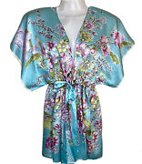 Beautiful Cabi Womens S Small Flowy Silk Floral Tie Front Silk Top Kimono Blouse