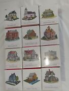 Lot Of 12 The Americana Collection Liberty Falls Village Pieces Houses Buildings