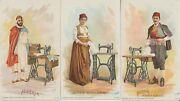 1892 Singer Sewing Machine Trade Cards 32 Different From Around The World