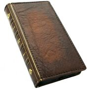 Genuine Leather Case For Apple Iphone 12 Pro Max Bible Book Wallet Vintage Cover