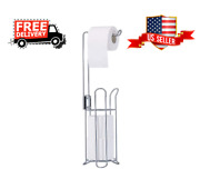 Stainless Steel Toilet Paper Holder Stand For 3 Rolls For Bathroom Storage