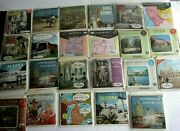 Vintage Sawyers View-master Reels Lot Of 128 W/ Lighter Stereo Viewer Model 2026