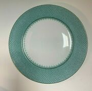 Mottahedeh Aqua Lace Patterned 12 Charger / Dinner Service Plate Set Of 12