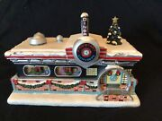Hawthorne Village Cycle City Train And Village Christmas Collection Set W/coa S