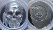 2017 5 Republic Of Palau Pirate Skull Antique Finished Silver Coin Pcgs Ms 69