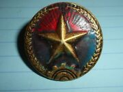 Pith Helmet - Badge - Nlf - Viet Cong - 1972 - 1976 Issue Vietnam War Vc South