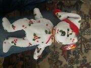 Mint - Rare 1998 Holiday Teddy Ty Beanie Baby Pe Pellets Tag Errors
