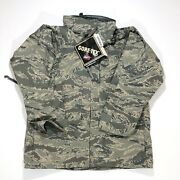 Military Issued Acu Goretex Cold Weather All Purpose Hooded Parka Camo Med Short