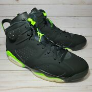 Nike Air Jordan 6 Electric Green Ct8529-003 Menand039s Sizes 11-12.5 New Ships Fast