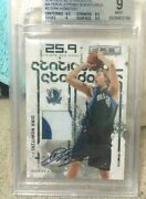 2009-10 Panini Dirk Nowitzki Jersey Sign Limited To 10 Bgs 9 Auto Nba Card