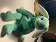 Ty Hippity The Green Bunny Plush Toy - Rare 1st Edition With Errors