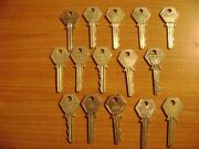 Rac Roadside Box 15 Keys Different Periods Vintage Membership Old Collectables