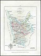 1776 Ireland - Rare Engraved Antique Map Of Clare By Bernard Scale Bs2/3