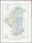 1776 Ireland - Rare Engraved Antique Map Of Armagh By Bernard Scale Bs2/5