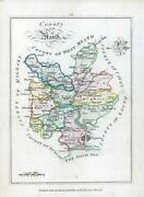 1776 Ireland - Rare Engraved Antique Map Of Meath By Bernard Scale Bs2/26