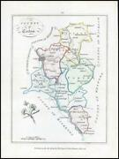 1776 Ireland - Rare Engraved Antique Map Of Carlow By Bernard Scale Bs2/22