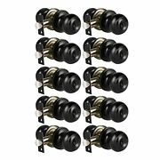 Keyed Entry Door Knobs Locking Door Knobs With Keys Ball Style Matte Black Pa...