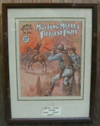 Orig. Old Water Color Front Cover Art Buffalo Bill Robert Prowse 1923 Very Rare