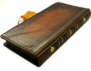 Genuine Leather Case For Samsung Galaxy S21 Ultra Wallet Book Bible Cover Luxury
