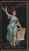 Victorian Trade Card 1880s The Best Tonic Malt And Hops Invigorating Vtc-g181