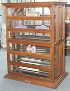 Large Antique 1880s A.n. Russell And Sons Oak Country Store Ribbon Display Cabinet