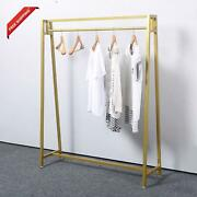 Mbqq Moden Metal Clothes Rack With Clothing Hanging Rack Organizer For Laundry D