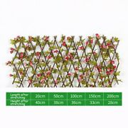 Artificial Ivy Leaf Wood Hedge Roll Garden Fence Privacy Screen Balcony Green