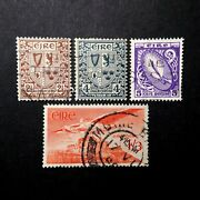 Ireland Vintage Postage Mixed Lot Eire 2 1/2,4,5 Shillings And 1/3d Air Mail