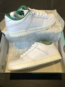 Limited Nos Sold Out Nike Sb Ben G Dunk Low Us9 New White Green Sail