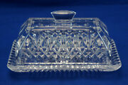 Waterford Lismore Quarter Pound Covered Butter Dish 7 1/8