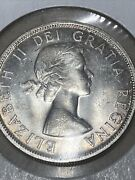 1958 Canadian Silver Dollar Ms Condition. Uncirculated. Just A Beautiful Coin