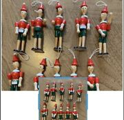 """Lot Of 100 New Wooden Pinocchio With Elastic Loop Toy.made In Italy 6 1/2""""tall."""