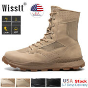 Menand039s Army Military Combat Boots Waterproof Fishing Hiking Tactical Work Shoes
