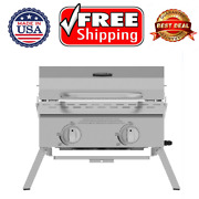 New Expert Grill 2 Burner Tabletop Propane Gas Grill In Stainless Steel