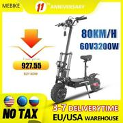 60v 3200w Electric Scooter110km Long Distance For Adults Foldable 11 Inch With