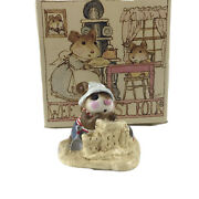 Wee Forest Folk 1982 Beach Mousey Miniature Signed By Annette Petersen Mini