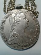 🎇 Authentic 1780 Austrian Thaler And Silver 24 Chain 🎇