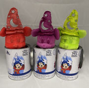 New Ink And Paint Disney Park Collectible Mickey Plush Mystery Set Of 3 Cans
