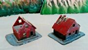 Pola N Scale 2-story Attic Ladder Cottage Houses Under Construction Built-up