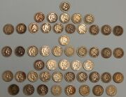 1859-1864 Copper / Nickel Indian Head One Cents - 1¢ - Lot Of 50 - Most Cleaned